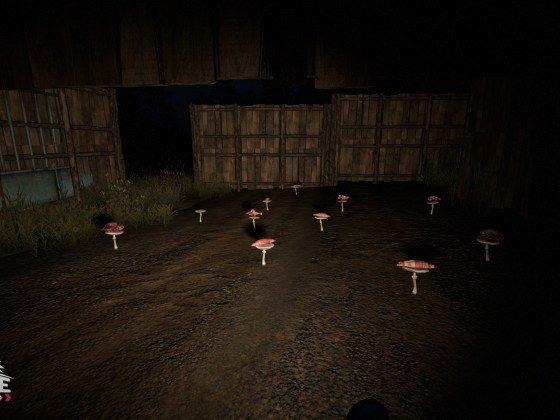 Human meat mushrooms at the front gates of the Village