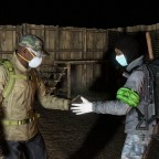 Survivors greeting each other at Green Mountain (circa 2019)