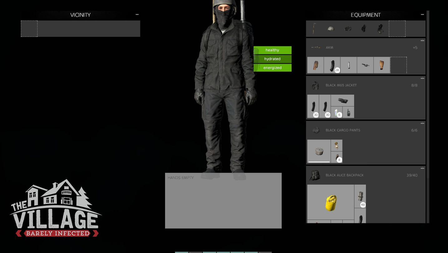 Alice Backpack Dayz the no-vest ninja - barely infected - also home of the dayz