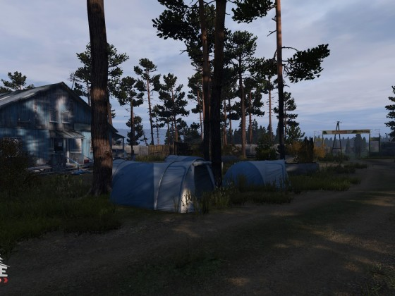 The village at summer camp by devils castle  2