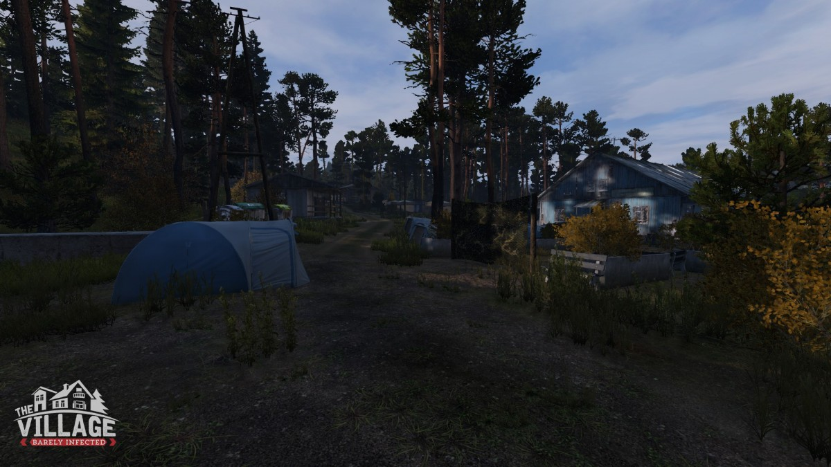 The village at summer camp by devils castle  1