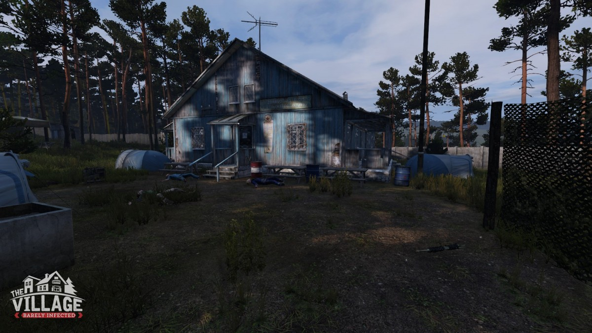 The village at summer camp by devils castle  3