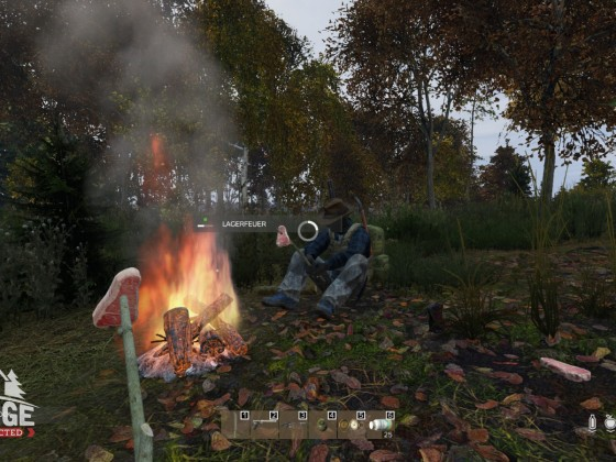 Macarian and Grog cooking at a campfire