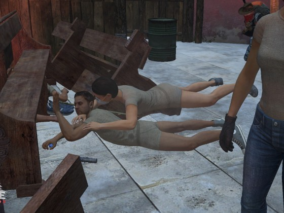Handz and Dave having a party of their own at the Big ball in Berezino...