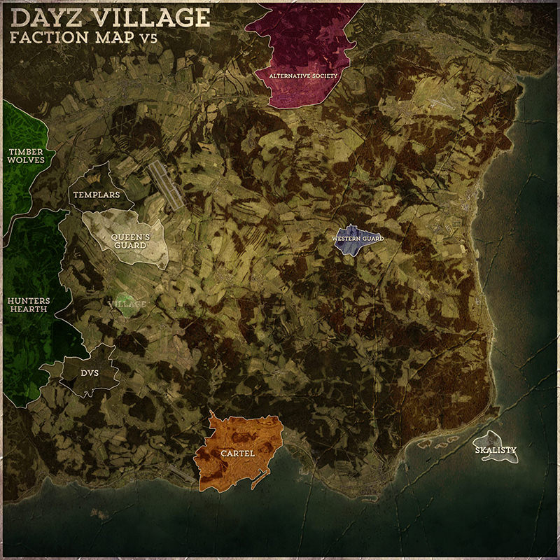 Day Z Map on